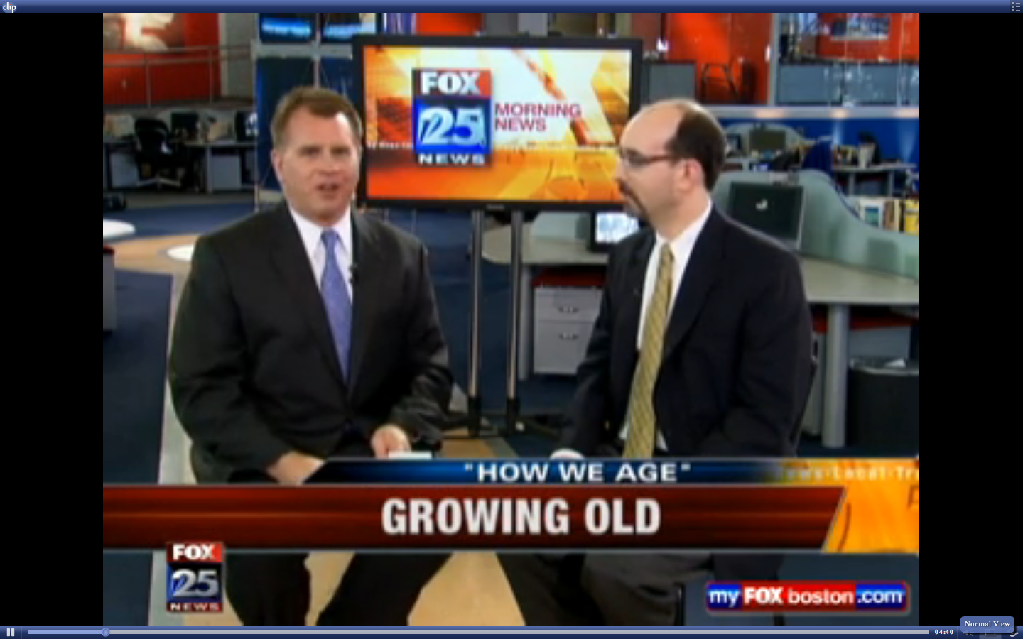 Growing Old, Agronin Boston Fox 25