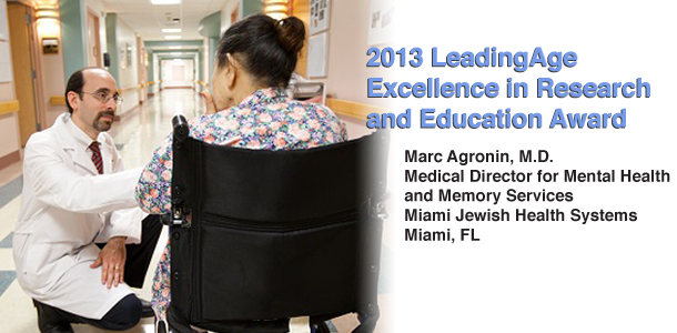2013  Excellence in Research and Education Award by LeadingAge